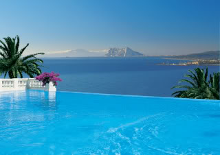 Infinity Pool in Marbella with View of Gibraltar